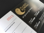 2 colour chequebook stye gift voucher numbering