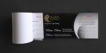 Black & gold color chequebook style gift vouchers