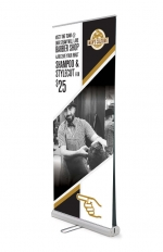 double sided pull up banner artwork design