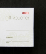 Individually numbered gift voucher printing