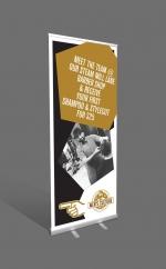 premium pull-up banner artwork design