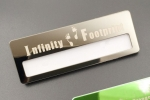 reusable smooth engraved stainless steel name badge