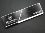 Brushed Stainless Steel Laser Engraved Name Badges